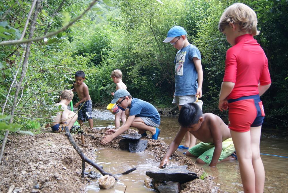 Lekker spelen in de rivier