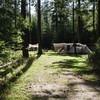 Kamperen midden in het bos.