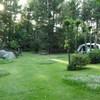 Een windluwe plek voor tenten.