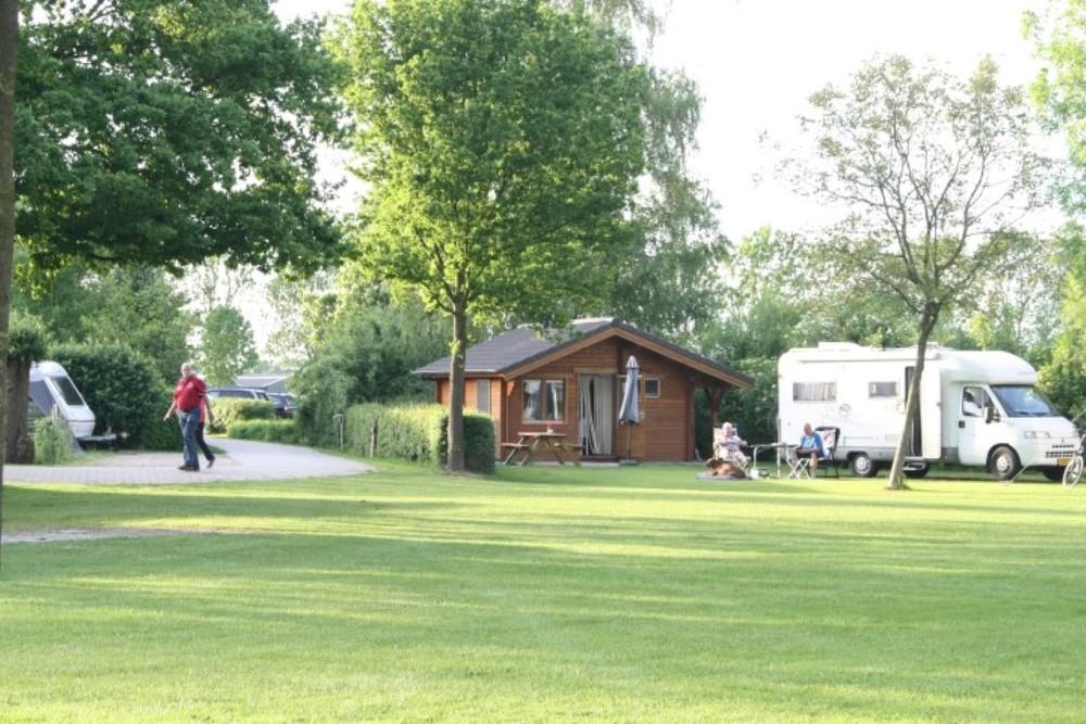 Trekkershut op de camping.