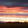 zonsondergang vanaf het terrein