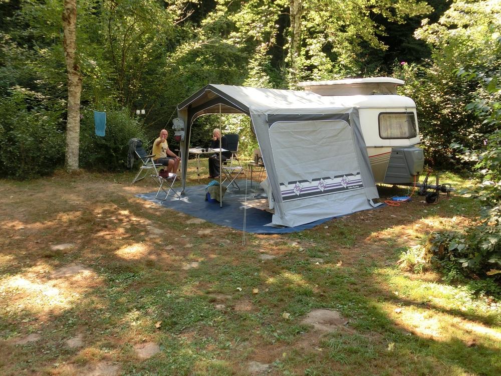 Het terrein is ook geschikt voor caravans