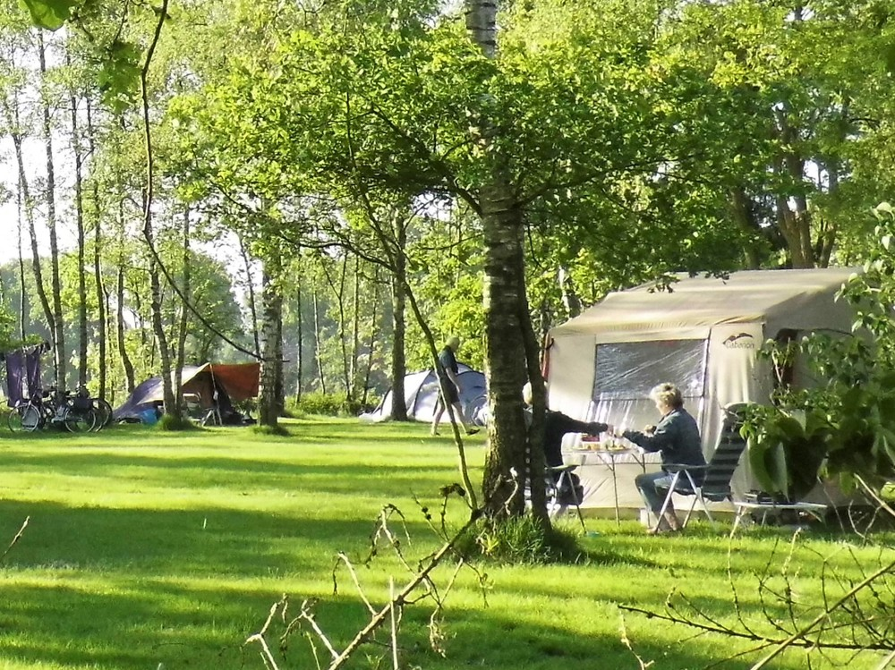 kamperen op één van de velden