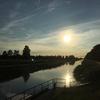 zonsondergang boven het kanaal