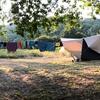 tenten op het kleine veld