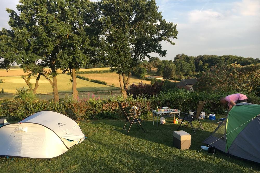 Uitzicht vanaf veld De Kauw