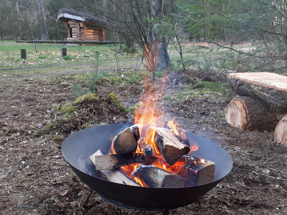Vuurschaal met een kampvuur