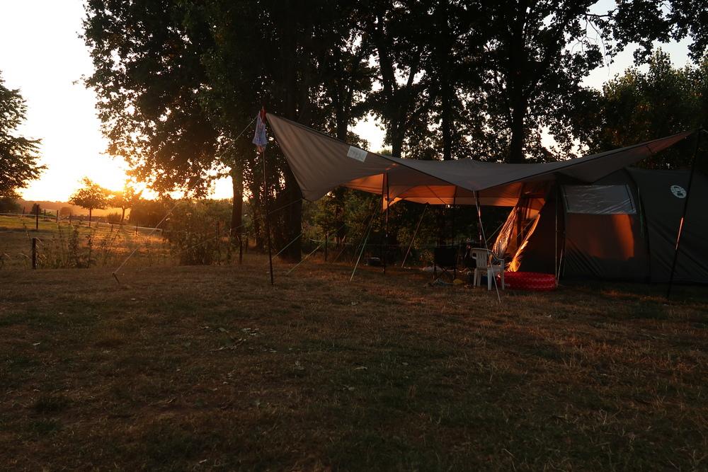 Tent aan de bosrand