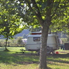 caravan op het camper/caravanveld