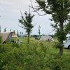 Doorkijkje naar de camping