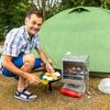 Broodjes bij de tent