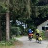 Kampeerders te fiets