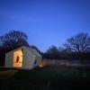 De hutten zijn het gehele jaar behaaglijk