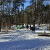 ook onder winterse omstandigheden wordt er volop gebruik gemaakt van ons natuurkampeerterrein